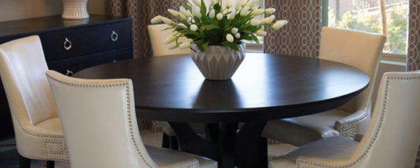 Une table ronde extensible